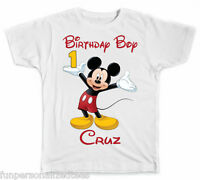 Personalized Disney Mickey Mouse Birthday Boy T-Shirt