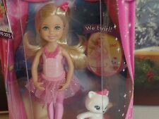 NRFB Barbie in the Pink Shoes Chelsea and Friends Blonde w Kitty