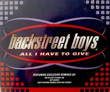 Backstreet Boys - All I Have To Give (4 Trk CD 1997) remixes -Quit Playing Games