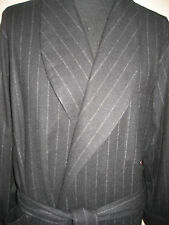 Ralph Lauren Purple Label Cashmere Robe Black Chalk Stripe $2,495 Made In Italy