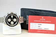 TUDOR ROLEX PRINCE CHRONOGRAPH REF. 79260 STEEL MENS WATCH W/ SERVICE PAPERS!!!