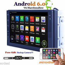 "QUAD-CORE 7"" Android 6.0 Car Stereo Radio GPS Navigation Player Wifi 3G OBD2 USB"