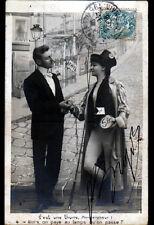 PROSTITUTION / Piece MONNAIE de 5 Francs pour une PASSE Femme libre & Fouet 1906