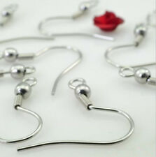 1000pcs 316L Stainless Steel Ear Wires Hooks Claps Jewelry Earring Finding