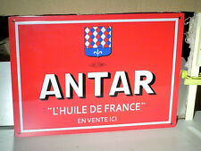 REEDITION PLAQUE TOLE 28 CMS ANTAR POUR GARAGE 1950/60 EN RELIEF