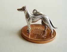 BEAUTIFUL ' GREYHOUND  ' STERLING SILVER CHARM CHARMS