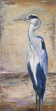 Blue Heron II Art Print by Patricia Quintero-Pinto - 12x24