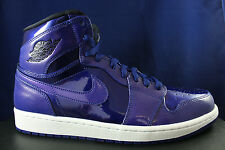 NIKE AIR JORDAN 1 RETRO HIGH I DEEP ROYAL BLUE PATENT LEATHER 332550 420 SZ 12