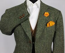 Harris Tweed Blazer Jacket Breitling Wedding Country 46S RARE ITEM 121
