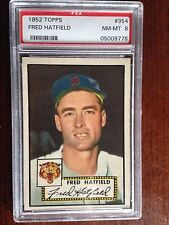 1952 Topps #354 Fred Hatfield PSA 8 NM-MT Detroit Tigers High Number low pop