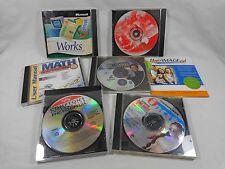 Computer Software Disks CDs Lot of 7 World War II Microsoft Works Math Express