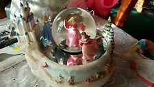 GIANT RETIRED DISNEY PRINCESSES SNOW GLOBE SKATERS WALTZ CINDERELLA SNOW WHITE
