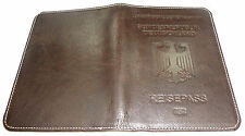Neu RFID Protected  PASSPORT WALLET HOLDER Calfskin Leather GIFT Reisepass Hülle