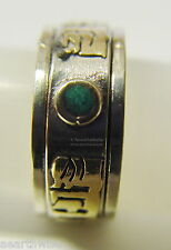 METAL SPINNING RING SIZE 12 OM MANI PADME HUM Wicca Witch Pagan Yoga