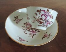 Antique 18th c. Chinese Export Porcelain Tea Cup & Bowl Saucer Famille Rose