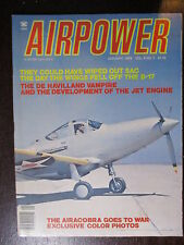 MAGAZINE  AIRPOWER JANUARY 1979 DE HAVILLAND VAMPIRE BELL AIRACOBRA BOEING B47