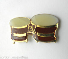 BONGO DRUMS BONGOS MUSIC ROCK LAPEL PIN BADGE 1 INCH