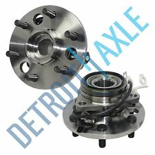 Set of 2 New Front 6-Bolt Wheel Hub and Bearing Assembly w/ ABS - 4WD ONLY