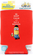 Despicable Me Minions Keep Calm and Eat a Banana Can Cooler Beer Soda Koozie