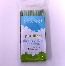 Flowery Purifiles 100/180 Disinfect Nail Files 20/pack