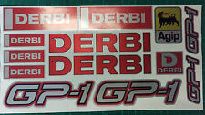 Derbi GP1 stickers SM supermoto 50 125 GP-1 GP 1 Red/Black/Silver
