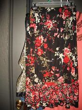 NEW Jaclyn Smith Lg ClassicRuffle Skirt Stretch 28-40x29 *ShipAuto$Calc 2urZip