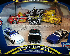 New - TO PROTECT AND SERVE - Pixar Cars POLICE 5-Pack - MATER w/ REMOVABLE COVER