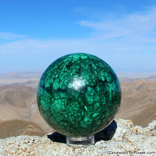 """Malachite Crystal Sphere Big 4.8"""" A +++ Collectors Quality Congo"""