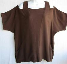 TIENDA HO~Dk Cocoa Brown~MOROCCAN COTTON~Cut Out~Jodi Top~Pockets~ Totokaelo~OS