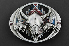 BULL SKULL  STEER COW BELT BUCKLE METAL WESTERN COUNTRY  WESTERN HORSE RIDING