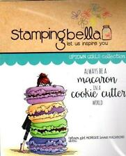 New Stamping Bella Cling Rubber Stamp UPTOWN GIRL MONIQUE LOVES MACARONS