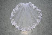 Custom New  White 1 Tier Short Wedding Bridal Bride Lace Veils with comb