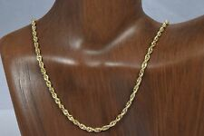 """14k Solid Yellow Gold 3.0 mm Heavy Rope Chain Italian Made 17"""" Length 8.8g"""