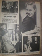 Article actress Joesphine Stuart in Strindberg play Easter Gateway london 1945