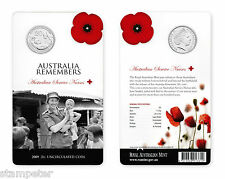 2009 Australia Remembers Service Nurses Uncirculated 20c Coin