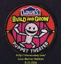 LMH PATCH Badge PUPPET THEATER Play MARIONETTE  Build Grow LOWES Project Series