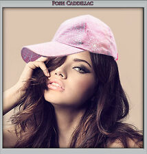Chick Goth Pop RNB Spider Web Hat R&B Cap Pink and Silver