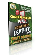 WHITE Leather Crack Gap Filler Kits - SEATS RESTORE - Fills Leather Seat Cracks