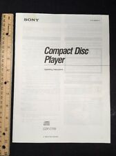 Sony Cdp-C705 Cd Player Original Owners Manual 22 pages cdpc705 A16