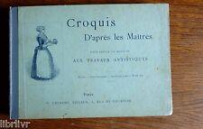 Dessin  peinture CROQUIS D'APRES LES MAITRES Figures, sujets religieux types,...