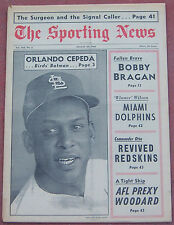 8-20-66 SPORTING NEWS ST. LOUIS CARDINALS ORLANDO CEPEDA ON COVER BASEBALL