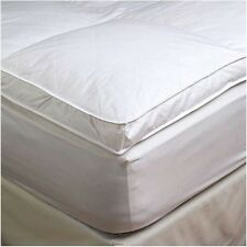 "2"" King Goose Down Mattress Topper Featherbed / Feather Bed Baffled"