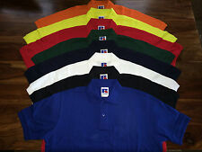 BNWT Mens Russell Workwear Hardwearing Pique Polo Shirt. Classic Red XXL E63