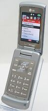 LG VX8700 Shine Verizon Silver Flip Cell Phone Bluetooth 2MP Cam Calc MicroSD