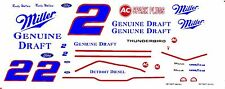 #2 Rusty Wallace Miller Taurus 1/64th HO Scale Waterslide Decals
