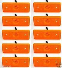 10 pcs x 24V 4 LED Side Marker Orange Amber Indicators Lights Truck Trailer Bus