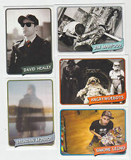 2012 SDCC COMIC CON THE ART HUSTLE PROMO CARD SET OF 5 STAR  WARS HEALY /500
