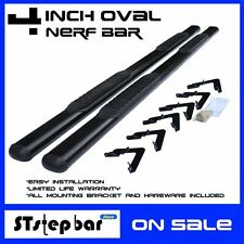 "FIT:2001-2013 CHEVY SILVERADO 1500 EXTENDED CAB 4"" BLACK OVAL SIDE STEP NERF BAR"