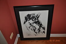 "HYACINTHE KULLER ""WHEN LOVE COMES"" BLACK & WHITE SIGNED/FRAMED DRAWING"