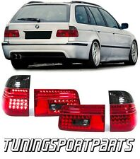 REAR LED TAIL LIGHTS RED-SMOKE FOR BMW E39 97-04 SERIES 5 TOURING FANALE